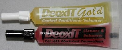 Combo - DeoxIT® D-Series D100L and GOLD G100L Squeeze Tube, 100% solution, 2 ml