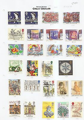 1980's/90's used commemoratives on page cat £23 from GB collection w5906