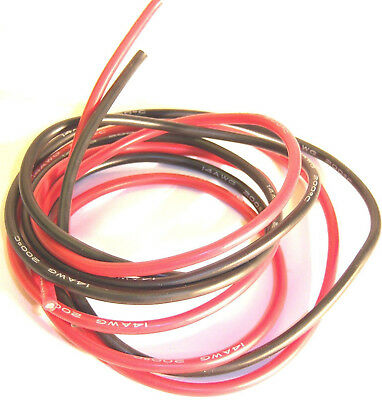 C1307-10 10AWG 10 AWG Silicone Wire Pair 50cm 500mm Black & Red