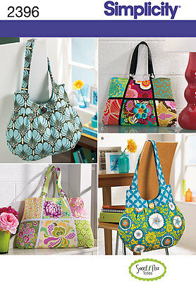 Sewing Pattern Simplicity  Tote Bag Accessories 2396 A
