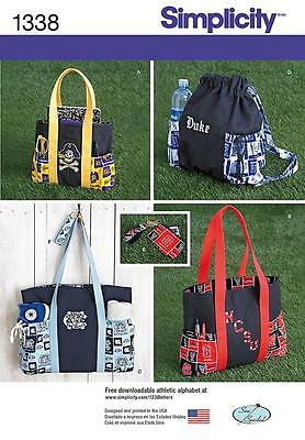 Simplicity Sewing Pattern Tote Bags Backpack  Purse Keg Ring 1338