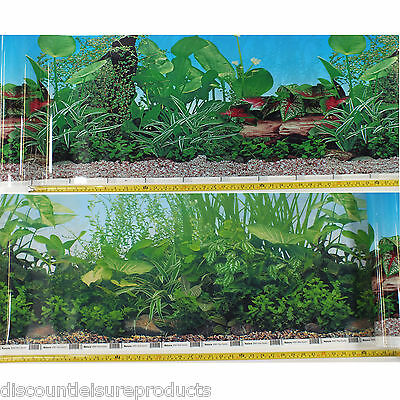 "16""/40cm Aquarium Fish Tank Double Sided Background Planted Scene #A"
