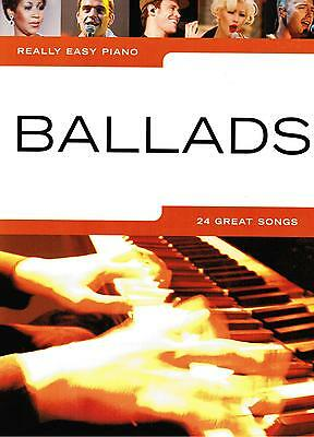 Klavier Noten : BALLADS - 24 Great Songs  (Really Easy Piano ) - Leicht