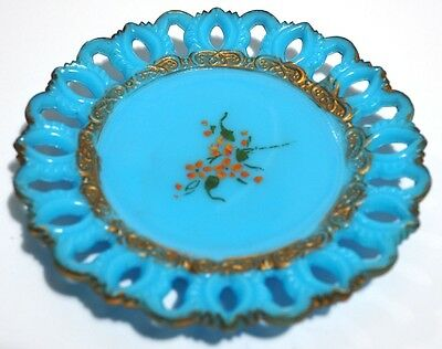 Cambridge Glass - GEM Keyhole Plate - Turquoise Opaque Plate
