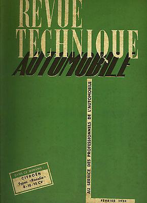 (C16) REVUE TECHNIQUE AUTOMOBILE CITROEN ROSALIE 8 10 15 CV / DODGE 6x6