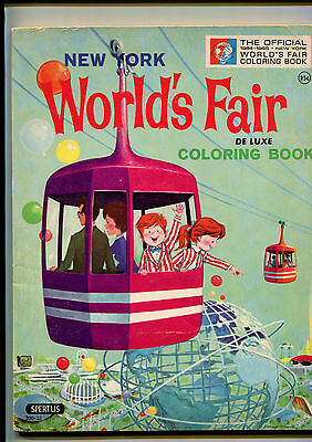 1963 Official New York World's Fair deluxe Coloring Book (unused)