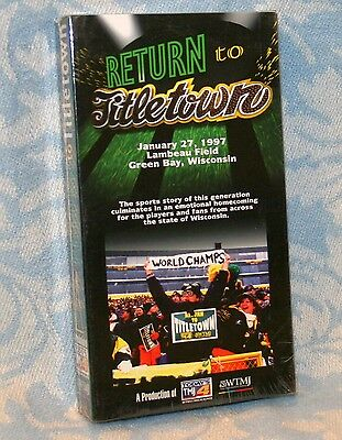 "Vintage SEALED 1997 "" Return To Titletown "" Green Bay Packers VHS Tape"