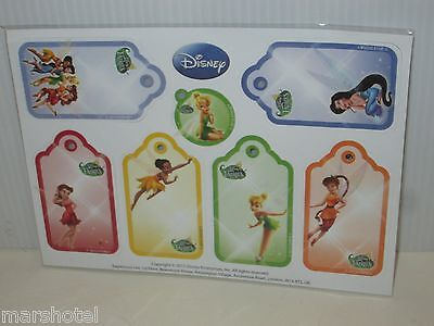 Disney Fairies Tinker Bell From Peter Pan And Fairy Friends Gift Tags Set/7