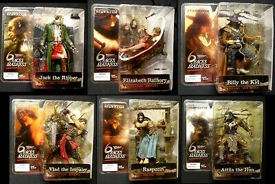McFarlane Toys Monsters 3 Faces of Madness 6 Figure Set New 2004  Bathory +