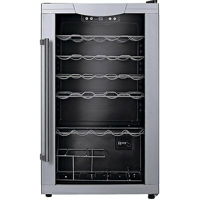 WE1-15 Electronic Drinks and Wine Cooler 115L Free Standing Fridge - Silver.