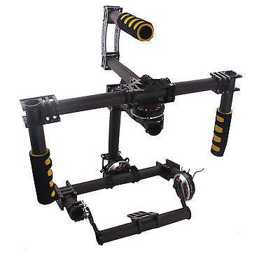 DSLR 3 Axis Brushless Gimbal Handle Camera Mount Stabilizer Carbon Fiber 5D2 60D