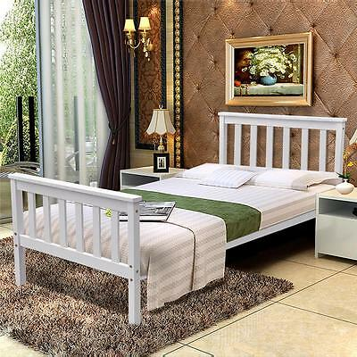 Single Bed in White 3ft Single Bed Wooden Frame White