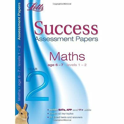 Letts Success Assessment Papers - Maths 6-7 Years - Paperback NEW Hanley, Donna