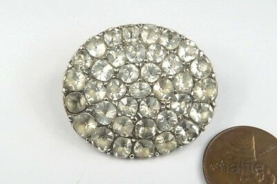 ANTIQUE GEORGIAN PERIOD ENGLISH SILVER FOILED PASTE CLUSTER BROOCH c1780