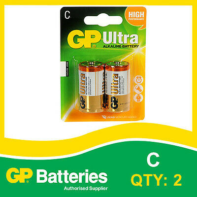 GP Ultra Alkaline C Battery card of 2 [MP3, CAMERAS GAMES CONSOLES + OTHERS]