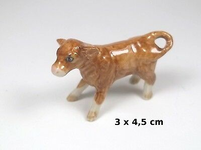 veau miniature en porcelaine,collection, vitrine,kalfje  A2-02
