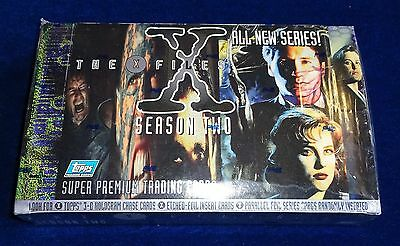 """""""the X-Files"""" Season Two Premium Trading Cards; Sealed Box Of 36 Sealed Packets"""