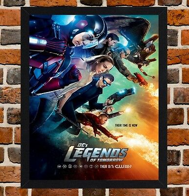 Framed Legends of Tomorrow TV Show Poster A4 / A3 Size In Black / White Frame