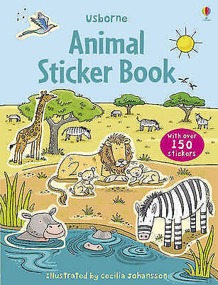 Animal Sticker Book (Usborne Sticker Books),New Condition