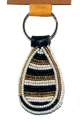 "South African Beaded Teardrop Keychain 2.5"" Contemporary Color FREE SHIPPING L11"