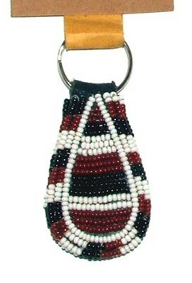 "South African Beaded Teardrop Keychain 2.5"" Contemporary Color FREE SHIPPING L14"