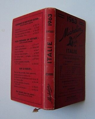 guide MICHELIN rouge ITALIE 1963 (exemplaire n° 1)