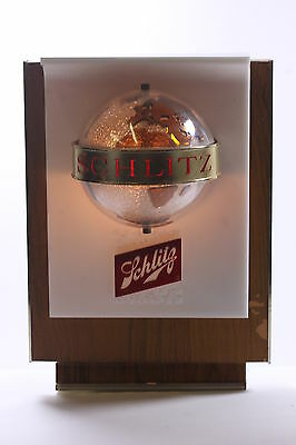 Schlitz Beer Vintage Rotating Light-Up Globe Advertiser Display Milwaukee Famous