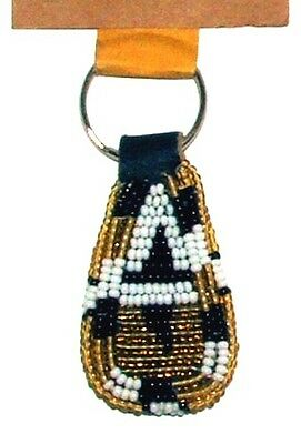 """South African Beaded Teardrop Keychain 2"""" Contemporary Colors FREE SHIPPING S35"""