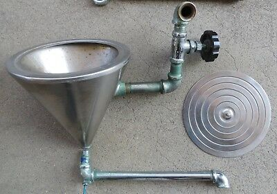 Vintage Chemistry Lab Conical Steamer With Graduated Removable Ring Top + Piping