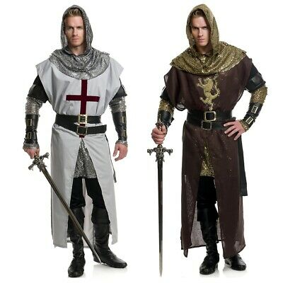 Knight Costume Adult Medieval Renaissance Halloween Fancy Dress