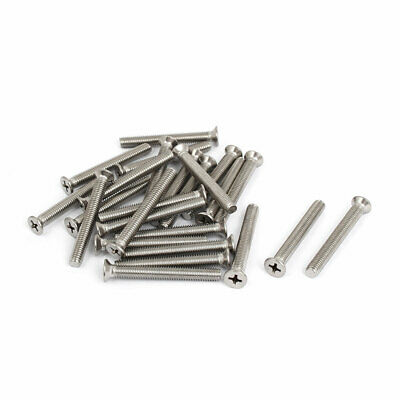 M6x50mm Stainless Steel Countersunk Flat Head Cross Phillips Screw Bolts 25pcs