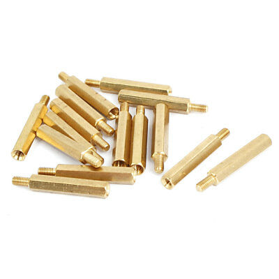 M3 Male/Female Thread Brass Hexagonal PCB Spacer Standoff Support 24mm+6mm 15pcs