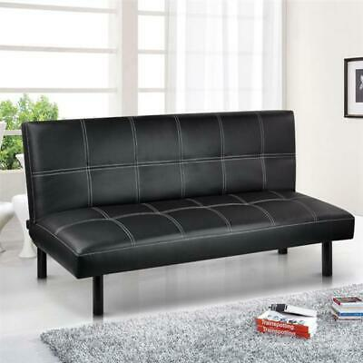 Modern PU Leather 3 Seater Sofa Bed - Foldway Sofabed Living Room Furniture UK