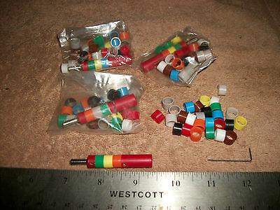 Big Lot Of Red With Color Code Isolation Plugs Banana To Banana S
