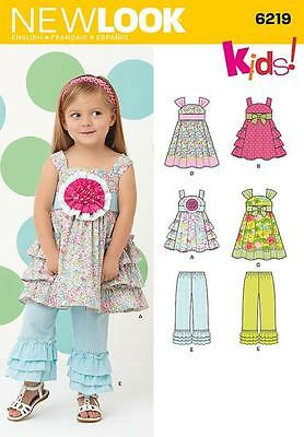 New Look Sewing Pattern Toddlers Dress & Pants Size 1/2 - 4  6219