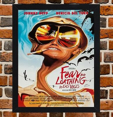 Framed Fear and Loathing In Las Vegas Movie Poster A4 / A3 Size In Black Frame
