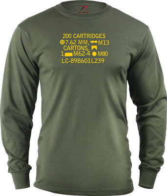 Long Sleeve 7.62 NATO 308  Ammo Can T shirt  ptr 91 308 Win h&k 91 FAL Sniper