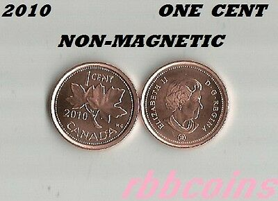 2010 Non-Magnetic Uncirculated Canada Small Cent - I Have More Canada Coins