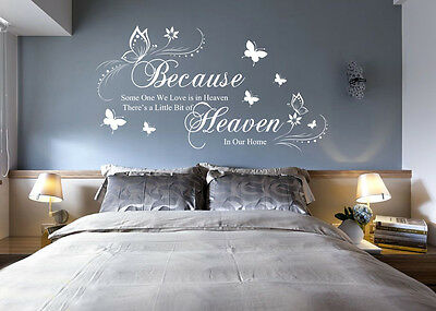 Hand Carving Personalize Family Name Words Quote Wall Sticker Decor UK RUI235