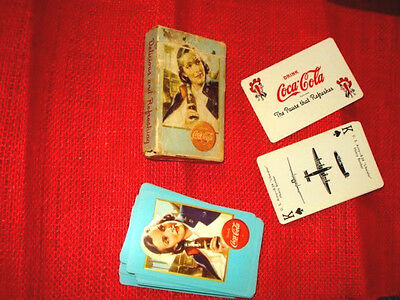World War II Coca Cola Aircraft Spotter Cards Excellent & Complete In Box