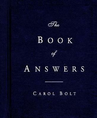 NEW The Book of Answers By Carol Bolt Hardcover Free Shipping