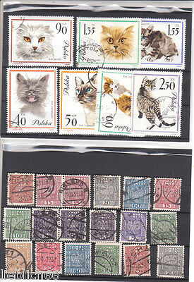 Polonia Poland canceled Postage stamps ab Classic Los Po 8