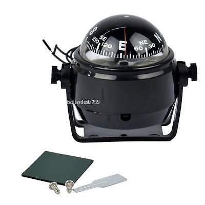 Sea Marine Electronic Digital Compass Boat Caravan Truck 12V LED Lights Compass