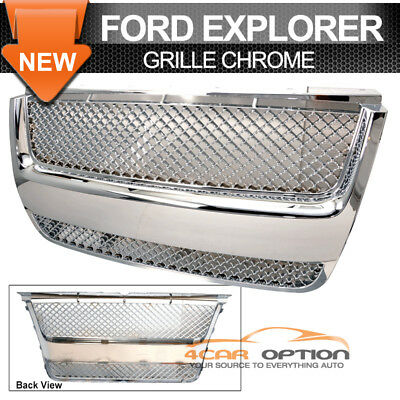 06-10 Ford Explorer Sport Trac Chrome Front Grille Grill