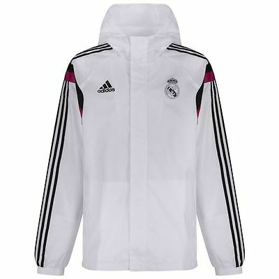 Adidas Performance Men's Official Real Madrid Training Football Jacket White