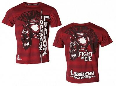 T-Shirt L.O.Fight or Die, rot. Lifestyle. MMA. Kickboxen. Muay Thai. Boxen, Budo