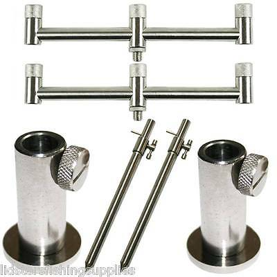 Buzz Bar Set 2 x 20cm 3 Rod Buzz Bars + TBAR 20-30CM Bank sticks + Stage Stands