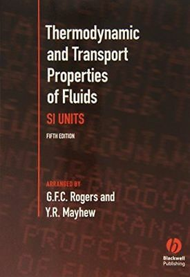 Thermodynamic and Transport Properties of Fluids: S. I. (PB) ISBN0631197036