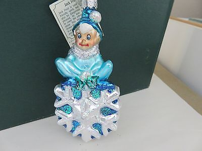 Jack Frost  Old World Christmas glass ornament