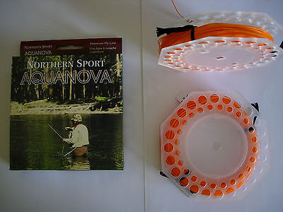 NORTHERN SPORT AQUANOVA ATF125 FLOATING Fly Line MOST WEIGHTS (FIRE ORANGE)